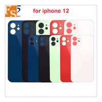 For iPhone 12 11 8 8 plus X XS MAX battery glass back glass replacement back cover housing big hole camera With stickers