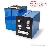 4pcs / lot 271Ah 272Ah 280AH 3.2V LIFEPO4 Batteriezelle DIY 12V 24V 36V 48V Power Backup Solarsystem