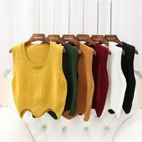 FashionWomen Sleeveless O Neck Knitted Pullover Vest Loose W...