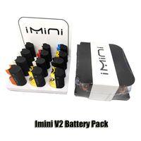 Paquet d'origine IMINI V2 dans une boîte d'affichage de 125T 650MAH Préchauffer VVors Vaporisateur de tension MOD pour 510 Cartouches d'huile épaisses Authentique