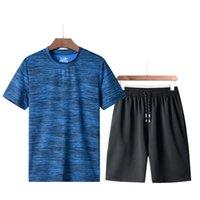 Short de remise en forme + T Homme Costume 2 pièces Définit 2020 Ensemble de manteau de sport d'été Hombres Plus de taille 5xl APW82020