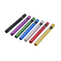 pas cher mini-cigarette métallique de fumer tuyau de tabac tuyau de tabac en aluminium d'aluminium de piqûre de piqûre de pipe de tuyau de cigarette