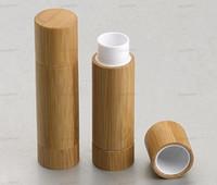 Bambu DIY Design de labelo vazio Batom Tubo de batom, bálsamo labial recipientes de embalagem cosméticos por atacado