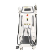 Venta superior belleza de la máquina multifuncional 3 en 1 para el tatuaje removalHair removalSkin Rejuvenecimiento OPT / IPL / SHR + Nd Yag + RF