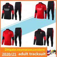 2020 2021 AC adulto IBRAHIMOVIC Futebol fato de treino survêtement 20 21 Milan maillot de pé THEO TONALI futebol Treino