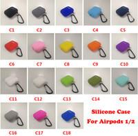 Funda de silicona suave para Airpods 1/2/3 Mini TPU Slim TPU Funda para auriculares Bluetooth para AirPods Pro 4 Mini con gancho de metal
