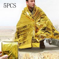 Outdoor-Notfall Solardecke Survival Safety isolierend Mylar Thermal Wärme Camping Survival Tools doppelseitige Decke