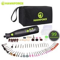 8 V Li-Ion Akülü Döner Aracı 5 Hız 4 LED Işıkları Hawkforce Şarj Edilebilir Elektrikli Mini Matkap Gravür Öğütücü Güç Araçları T200324