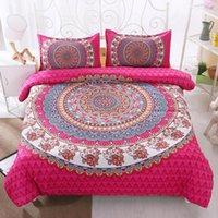 Fanaijia Богемский постельное белье Cover наборы Boho Partded 3D одеяла Cover Mandala 3PCS наволочка Queen Size Bedlinen1