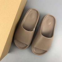 2021 kanye diapositive hommes femmes chaussures désert sable résine de la terre brun brun pellier triple noir rouge orange blanc pantoufles sandales