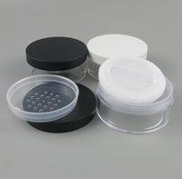 50g beweglicher Plastik Leer Loose Powder Box Makeup Jar Container Reise Puff Sichter kosmetischer Fall