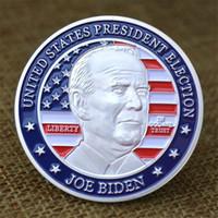 Bidgen Präsident Gedenkwürdige Medaillons Geschenk Silber Münze Metallfarbe Neue Präsident des America Joe Bidgen Abzeichen Freies Verschiffen