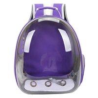 Perros plegables bolsa de gato transpirable portátil portátil portátil bolsa de viaje al aire libre mochila de viaje para gato y perro mascota mochila lj201201