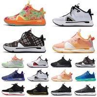 İndirim Karışık Renk Paul George PG 4 IV Erkek Basketbol Ayakkabıları PG4 Siyah Beyaz Gatorade PCG Eğitmenler Erkekler Spor Sneakers 40-46