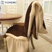 Yomdid зимняя шерстяная одеяло хорька кашемировые одеяло теплые одеяла флис супер теплый мягкий бросок на диван-кровать крышка квадрат Cobija 201106