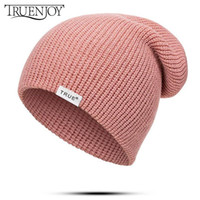 TRUENJOY Casual Knitted Beanie Hat Women Men Autumn Winter H...