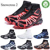 Salomon CS Trail invierno de los hombres de nieve botas rojas Negro Azul Rojo voltios calcetín zapatos Zapatos para hombre de la nieve del invierno formadores de arranque 40-46