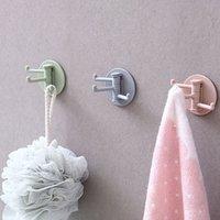 Drehbar traceleless 3 -ast-Haken-Multifunktions-Badezimmer-Handtuchbad-Kugel-Wandhaken Küchenlöffel-Rag-Schwammhalter-Schlüsselhaken VTKY2092