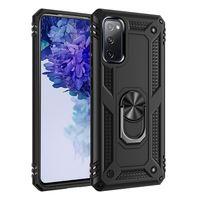 Híbrido Armadura Caso anel magnético Stand Case Kickstand Para iPhone 12 mini-11 pro X XS Max XR 7 8 mais SE 2020 galáxia s20 FE 5G S10 mais caso