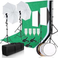 التصوير الفوتوغرافي استوديو استوديو Softbox Lighting Kit مع 2.6x3M خلفية الإطار 3 قطع الخلفيات ترايبود حامل العاكس مجلس مظلة