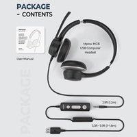 MPOW 328 / HC6 Lighhtweight USB Headset / 3.5mm Headset do computador com microfone em linha Control Center Call For Skype PC Celular