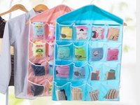 16 poches chaussettes Soutien-gorge Sous Hanging Organisateur Tidy rack Hanger sac de rangement porte pour salle de bain salon Divers ménage