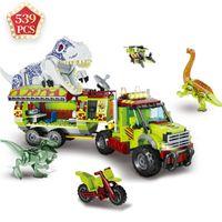 MOC Jurassic Park of World Christmas Toys Dinosaurs Tyrannosaurus Indominus Rex Building Blocks Bricks Toys Giocattoli per bambini Regalo X0102