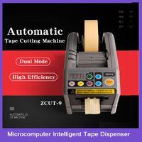 Kuaique Auto Tape Dispenser ZCUT-9 Эффективный Микрокомпьютер Интеллектуальная Большая Автоматическая Настольная Лента Резка Машина Упаковочные машины