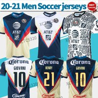 2021 Liga MX League America Tercer fútbol Jersey 20/21 Henry Giovani Caceres B.Valdez Hombres Camisa de fútbol para hombres Uniformes de fútbol