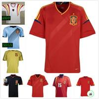 1996 2008 2010 2010 스페인 레트로 축구 유니폼 1994 월드컵 Raul Xavi Luis Ensique Xavi Alonso Caminero Iniesta 멀리 Pique Davad David
