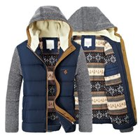 Men' s Winter Coat Warm Parkas Thick Fleece Cotton Coats...