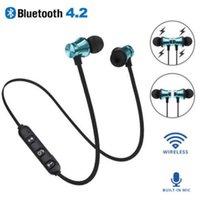 XT11 سماعات بلوتوث سماعات مغناطيسية لاسلكية جارية الرياضة سماعات الرأس BT 4.2 مع ميكروفون mp3 earbud للهواتف الذكية في المربع