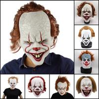 Силиконовые Movie Стивена Кинга Это 2 Joker Pennywise Маска анфас Horror Клоун Латекс маска Halloween Party Ужасные маски Cosplay Prop