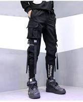 2020 Mens Joggers Pantaloni Autunno Uomo Ricamo Abbigliamento sportivo con scolloraggio Casual Tracksuit Sweatspants Pantaloni Black Bianco Pantaloni da jogger S-2XL