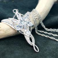Principessa Arwen Collane del pendente dell'Arystar per le donne collana di cristallo di Arwen Hobbit S925 Gemoni da sposa sliver regalo1