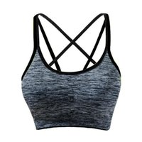 Women Running Workout Top Wire Free Padded Yoga Sports Bra F...