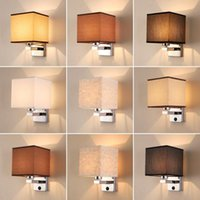 Hotel Bedside Cube Wall Light Bedroom Energy-saving LED Warm White E27 Lamp with Bulb