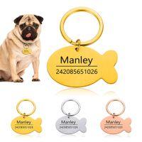 Anti-Lost Personalizzato Cat Dog Collar Accessori Personalizzati ID Dog Nome Numero di telefono PET ID ID Tag per incisione cucciolo gratis