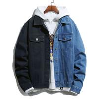 Nedensel Erkekler Ceketler Moda Spor Giyim Denim Vintage Mont Hip Hop Erkek Streetwear Erkek Bombacı Ceketler Boyutu S-3XL 0811 #