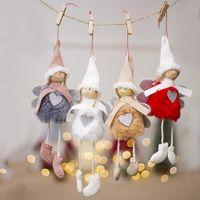 Ornamento Plush Doll Natal Pingente ornamento 2020 Pingentes bonito G2 asas de anjo amor do coração da menina Hangings 3xb