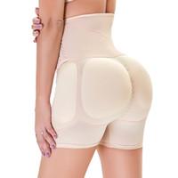 여성용 Shapewear 회사 제어 원활한 패딩 허벅지 슬림 하이 허리 팬티 힙합 향상제 엉덩이 리프터 짧은 부스터
