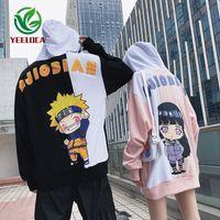 2019 Yeni Karikatür Anime Yangın Gölge Çift Tema Hoodie Moda Hip Hop Spor Erkekler ve Kadınlar Ins Gevşek Trend Çok yönlü Üst Naruto C1011