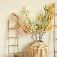 7 PCS Plantes artificielles Bamboo Feuille de feuilles Soie Plantes Mariage Mariage Fleur Matériel Décoration De toile de fond Vendez de jardin Faux feuilles