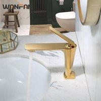 Torneiras de pia do banheiro Wanfan Torneira de bronze de bronze de lâmpada montada montada misturada misturador de encanamento de encanamento SPOUT S79-3731