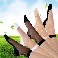 Sexy pizzo maglia di seta frutta di seta calze a rete fibra trasparente elasticità elasticità elasticità filato netto filato sottile donne calze 3pair = 6pcs tmd071