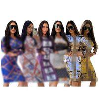 الأوروبية والأمريكية إلكتروني الطباعة فساتين عارضة حزب المرأة أزياء مثير مطبوعة ضئيلة صالح الورك اللباس