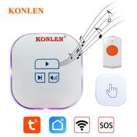 Türklingel WiFi Tuya Smart Doorlbell Home SOS Notruf Panic Button Wireless Melody Chime Ring Bell Ding Dong Life App Alert
