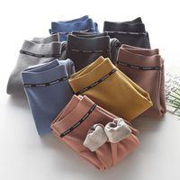 Scoorbee mulheres sólidas veludo algodão leggings novo moda outono e inverno calças calças quentes espessamento cashmere calças femininas lj200923