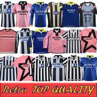 Retro del Piero Soccer Jersey 84 85 92 95 96 97 98 99 02 03 11 91 Zidane القديم مايوه ديفيدز أقدم قميص