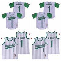 Film 1 G-Baby-Jarius Evans Baseball Kekambas Jersey Männer kühlen niedrige Pinstripe atmungsaktiv aus reiner Baumwolle Stickerei und Näherei Team-Farbe Weiß